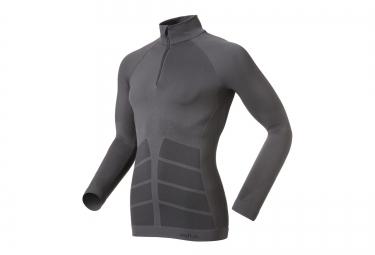 odlo maillot manches longues evolution warm zip gris