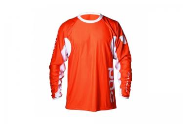 poc maillot manches longues dh orange