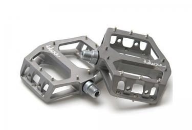 deluxe pedales f lite aluminium gris titane