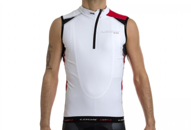 look maillot sans manches pro team sl blanc rouge