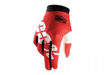 100 paire de gants itrack fire rouge