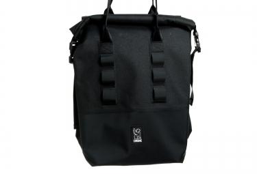 chrome sacoche de porte bagages rolltop 20l noir