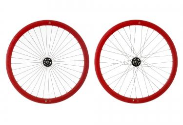 gipiemme paire de roues pista a40 fixed 700c rouge