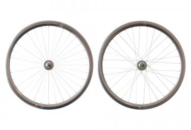 gipiemme paire de roues pista a40 fixed 700c argent