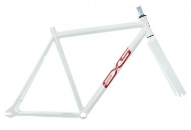 exs kit cadre piste alu fourche carbone blanc