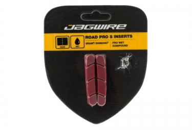 jagwire paire de patins pro s temps humide rouge