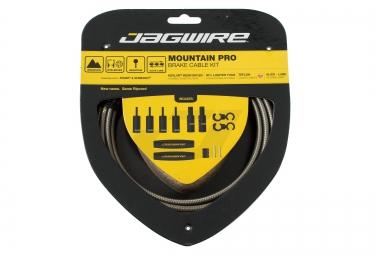 jagwire kit cables et gaines de frein mountain pro carbon silver