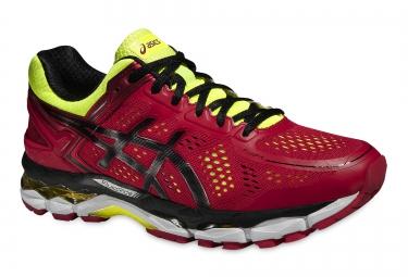 chaussures de running asics gel kayano 22 rouge jaune noir