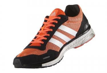 zapatillas adidas adizero adios 3 hombre negro naranja