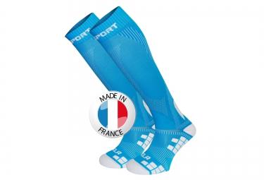 bv sport chaussettes de compression xlr bleu