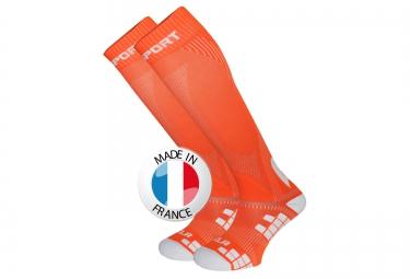 bv sport chaussettes de compression xlr orange
