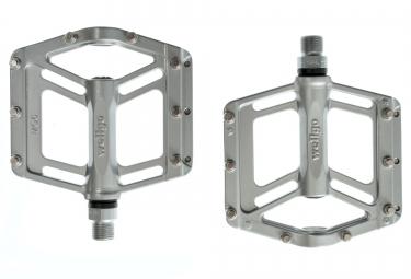 wellgo pedales mg 6 aluminium gris