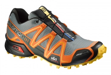 salomon speedcross 3 cs gris orange jaune
