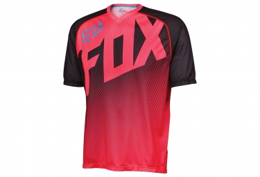 fox maillot manches courtes flow neon rouge