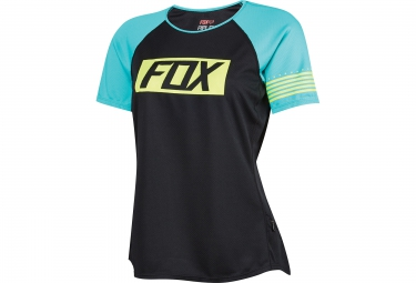 fox maillot femme manches courtes ripley noir turquoise
