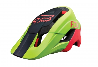 casque fox metah jaune noir