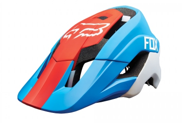 casque fox metah bleu rouge