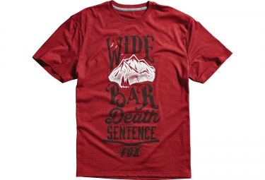 fox tee shirt wide bar tech tee rouge