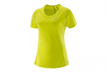 salomon maillot agile jaune femme