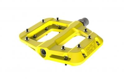 race face paire de pedales chester jaune