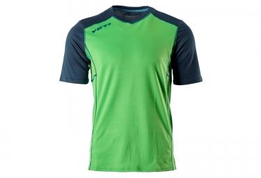 yeti maillot manches courtes tolland vert bleu