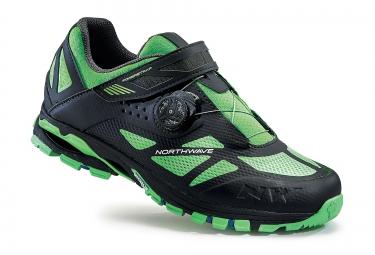 paire de chaussures vtt northwave spider plus 2 gris noir vert