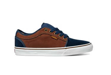 vans 2016 paire de chaussures chukka low bleu marron