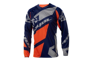 royal 2016 maillot manches longues victory race bleu gris orange