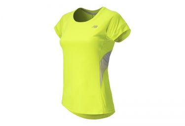 new balance t shirt hi lite jaune femme
