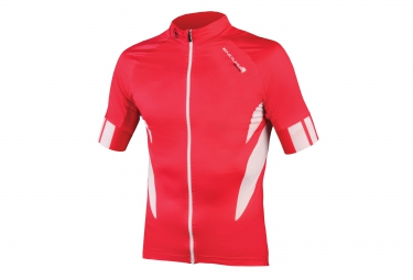 maillot manches courtes endura fs260 pro rouge