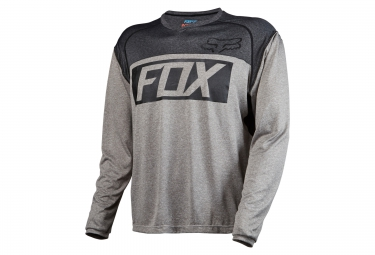 fox maillot manches longues indicator ls gris
