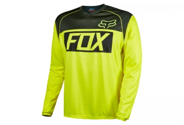 fox maillot manches longues indicator ls jaune