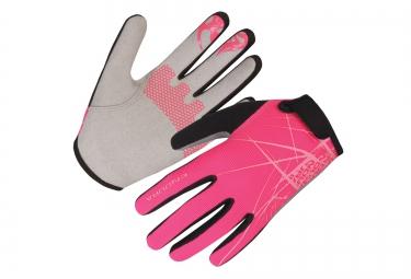 endura paire de gants hummvee rose fille