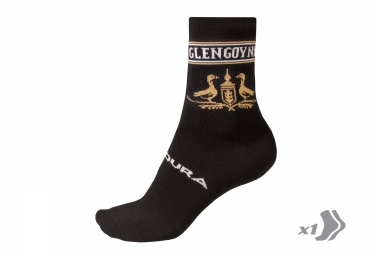 endura paire de chaussette merinos glengoyne noir jaune