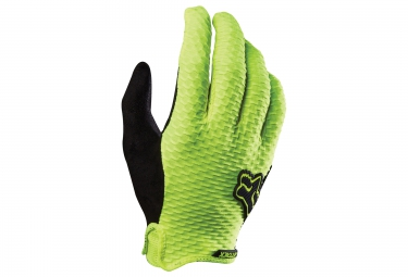 fox paire de gants attack jaune