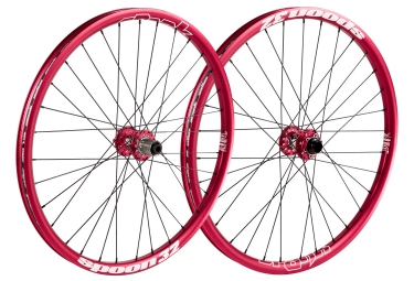 paire de roues spank spoon 32 26 axes 20mm 15mm 10x135mm corps shimano sram rouge