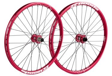 spank paire de roues spoon 32 27 5 avant 20x110mm arriere 12x150mm rouge