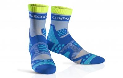 compressport paire de chaussettes pro racing socks ultra light run bleu