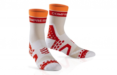 compressport paire de chaussettes pro racing socks ultra light bike blanc