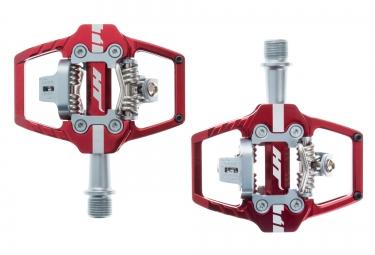 ht paire de pedales automatiques t1 rouge