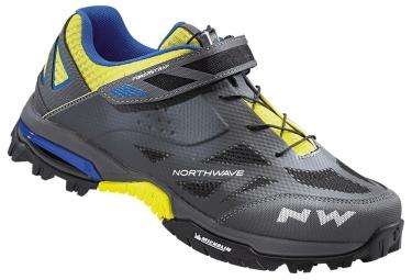 paire de chaussures vtt northwave enduro gris jaune
