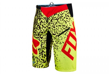 fox short demo dh cauz jaune rouge