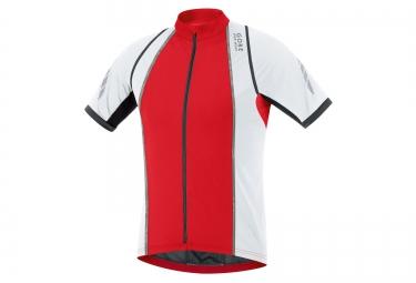 gore bike wear maillot xenon s rouge blanc