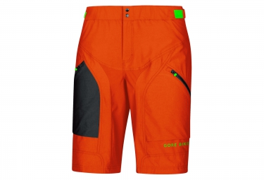 gore bike wear short power trail orange