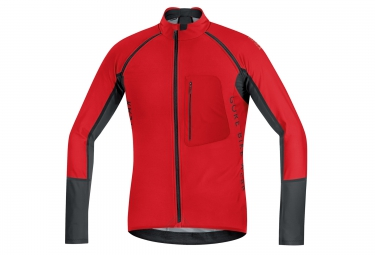 gore bike wear maillot alp x pro windstopper soft shell rouge noir