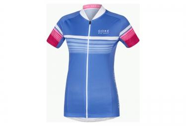 gore bike wear maillot element speedy bleu rose femme