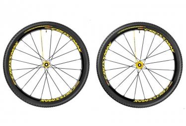 mavic paire de roues crossmax sl pro ltd wts 29 axes 15x100mm 9x100mm qr av 142x12mm
