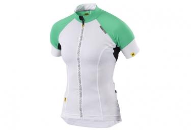 ne pas remettre en ligne mavic maillot manches courtes athena femme blanc vert