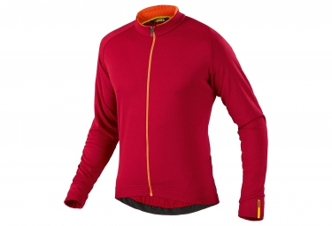 mavic 2016 maillot manches longues aksium thermo rouge