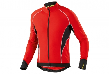 mavic 2016 maillot manches longues cosmic elite thermo rouge